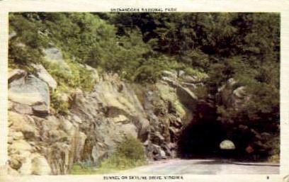 Tunnel On Skyline Drive - Virginia VA Postcard