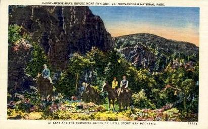 Towering Cliffs - Skyland, Virginia VA Postcard