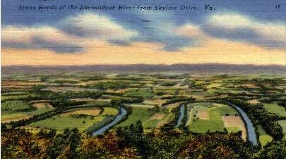 Seven Bends  - Skyline Drive, Virginia VA Postcard