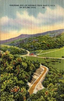 Panorama And Lee Highway  - Skyline Drive, Virginia VA Postcard