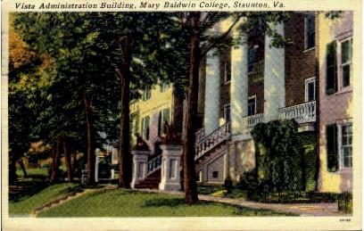 Vista Administration Building - Staunton, Virginia VA Postcard