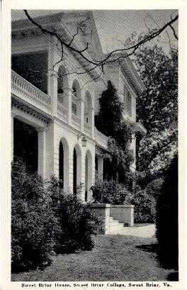 Sweet Briar House - Staunton, Virginia VA Postcard