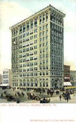 Bank of Commerce - Norfolk, Virginia VA Postcard