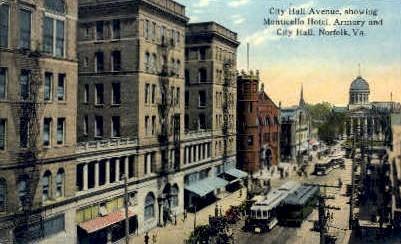 City Hall - Norfolk, Virginia VA Postcard