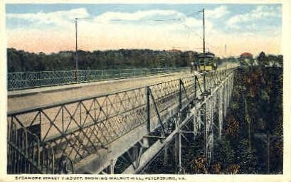 Sycamore Street - Petersburg, Virginia VA Postcard