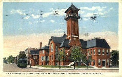 25th Street - Newport News, Virginia VA Postcard