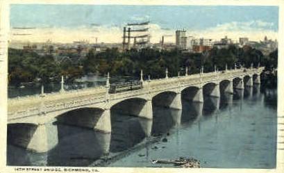 14th Street - Richmond, Virginia VA Postcard