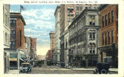 Main Street - Richmond, Virginia VA Postcard