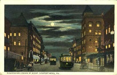Washington Street - Newport News, Virginia VA Postcard
