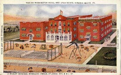 Martha Washington Hotel  - Virginia Beach Postcards, Virginia VA Postcard