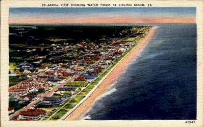 Water Front - Virginia Beach Postcards, Virginia VA Postcard