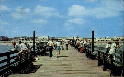 Fishing Pier - Virginia Beach Postcards, Virginia VA Postcard