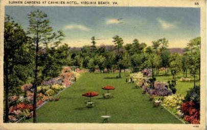 Sunken Gardens - Virginia Beach Postcards, Virginia VA Postcard