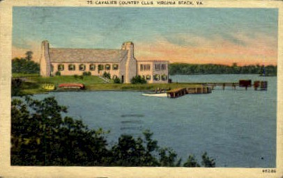 Cavalier Country Club - Virginia Beach Postcards, Virginia VA Postcard