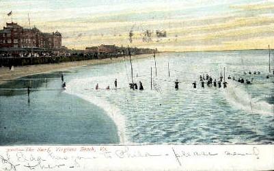The Surf - Virginia Beach Postcards, Virginia VA Postcard