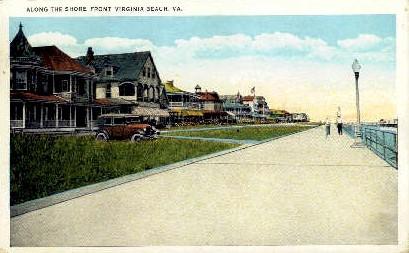 Along The Shore Front - Virginia Beach Postcards, Virginia VA Postcard