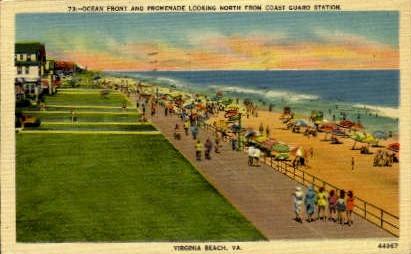 Ocean Front - Virginia Beach Postcards, Virginia VA Postcard