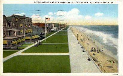 Ocean Avenue - Virginia Beach Postcards, Virginia VA Postcard