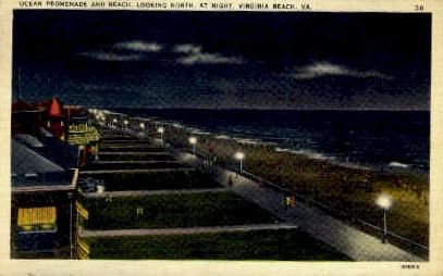 Ocean Promenade - Virginia Beach Postcards, Virginia VA Postcard