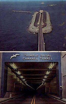 Chesapeake Bay Bridge - Virginia Beach Postcards, Virginia VA Postcard