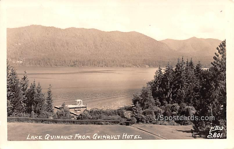 Lake Quinault from Quinault Hotel - Washington, Virginia VA Postcard