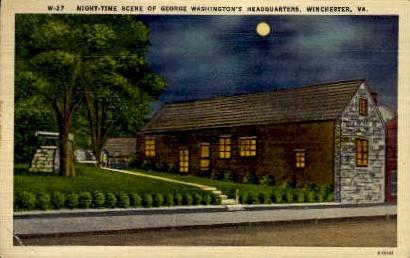 George Washington's Headquarters - Winchester, Virginia VA Postcard