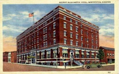 George Washington Hotel - Winchester, Virginia VA Postcard