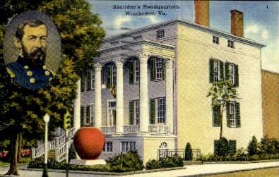 Sheridan's Headquarters - Winchester, Virginia VA Postcard