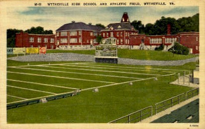 Wytheville High School - Virginia VA Postcard