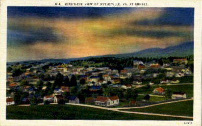 Birds Eye View - Wytheville, Virginia VA Postcard