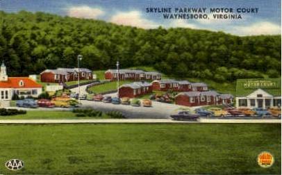 Skyline Parkway - Waynesboro, Virginia VA Postcard