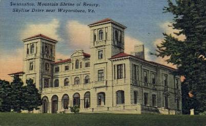 Swannanoa, Mountain Shrine - Waynesboro, Virginia VA Postcard