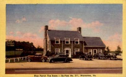 Blue Parrot Tea Room - Warrenton, Virginia VA Postcard