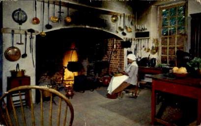 Governer's Palace Kitchen - Williamsburg, Virginia VA Postcard
