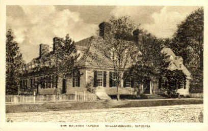 The Raleigh Tavern - Williamsburg, Virginia VA Postcard
