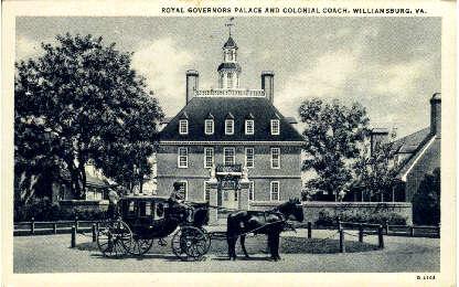 Royal Governer's Palace - Williamsburg, Virginia VA Postcard
