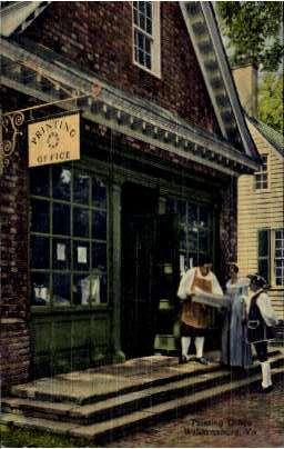 Printing Office - Williamsburg, Virginia VA Postcard