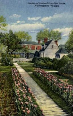 Garden Of Ludwell-Paradise House - Williamsburg, Virginia VA Postcard