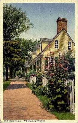 Pitt-Dixon House - Williamsburg, Virginia VA Postcard