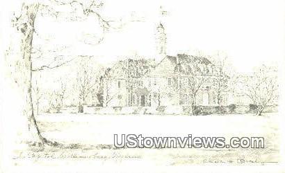 Colonial Chapel  - Williamsburg, Virginia VA Postcard