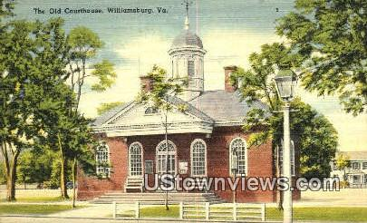The Old Court House - Williamsburg, Virginia VA Postcard