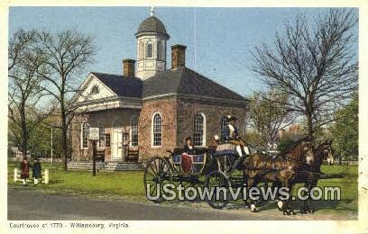 Court House Of 1770 - Williamsburg, Virginia VA Postcard