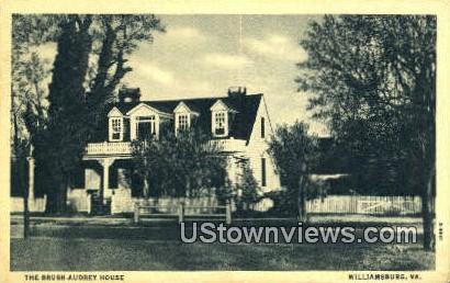 The Brush Audrey House - Williamsburg, Virginia VA Postcard