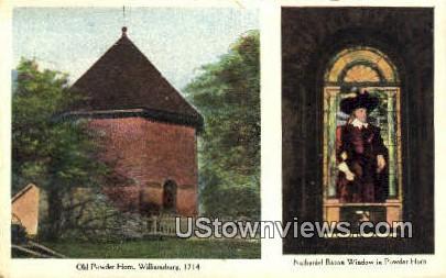 Nathaniel Bacon Window  - Williamsburg, Virginia VA Postcard