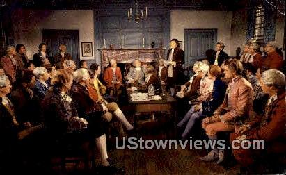 Virginia Burgess Meet, Raleigh Tavern - Williamsburg Postcard