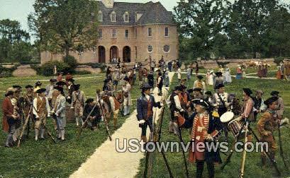 Militia as Seen In Williamsburg - Virginia VA Postcard