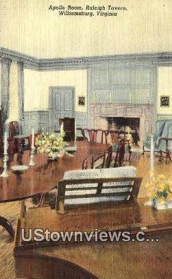 Apollo Room In Raleigh Tavern - Williamsburg, Virginia VA Postcard