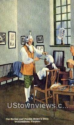 The Barber And Peruke Makers Shop  - Williamsburg, Virginia VA Postcard
