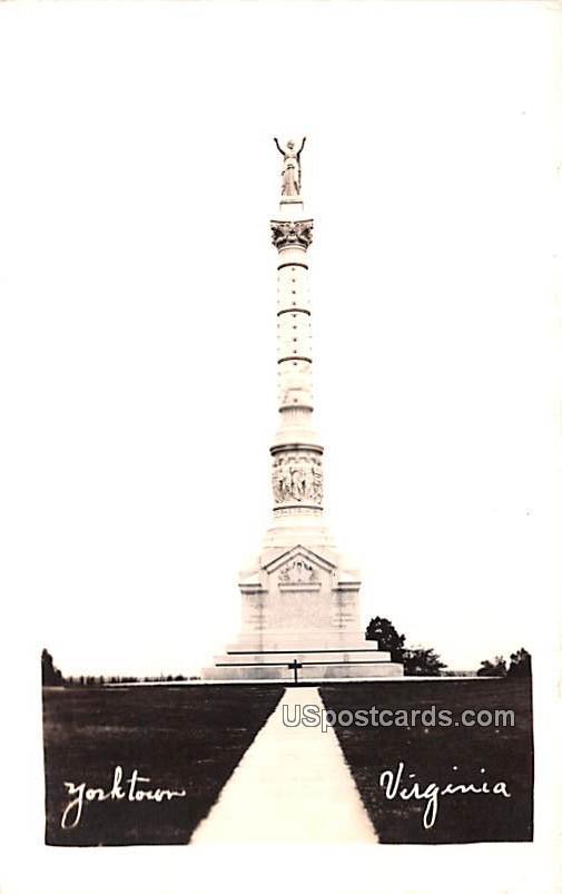 Monument Statue - Yorktown, Virginia VA Postcard
