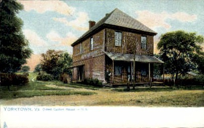 Oldest Custom House - Yorktown, Virginia VA Postcard